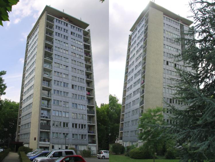 Deux vues de la tour aujourd'hui Photo PhW
